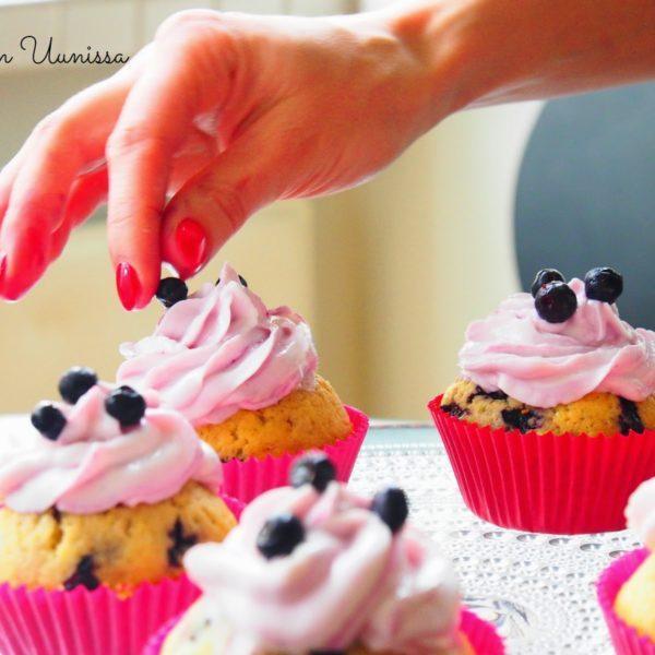 Mustikka cupcakes
