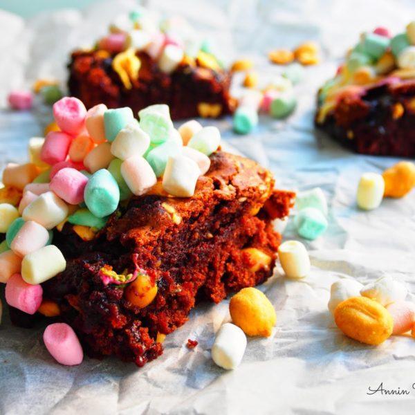 Marshmallow Brownie eli Brownie Vaahtokarkeilla