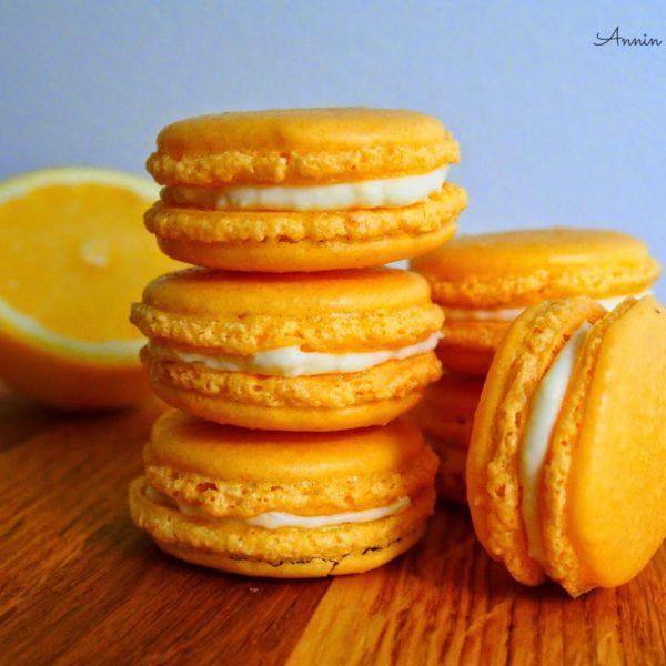 Sitruuna-Tuorejuusto Macarons