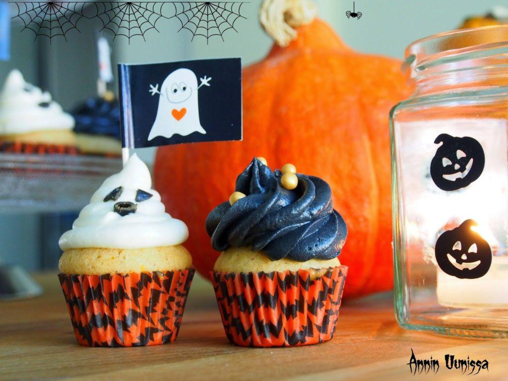 HALLOWEEN Orange Cupcakes - DIY lyhdyt