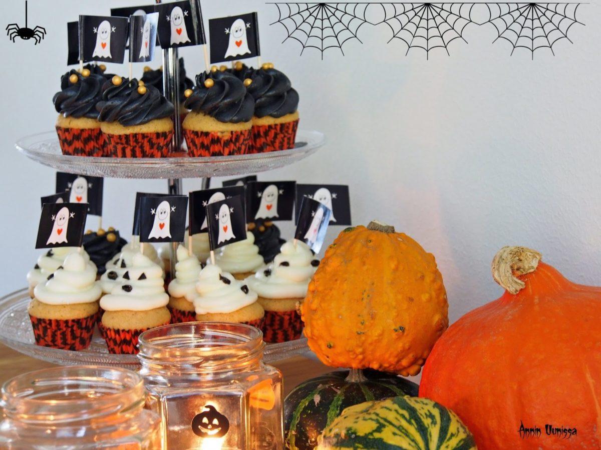 HALLOWEEN Orange Cupcakes -DIY lyhdyt