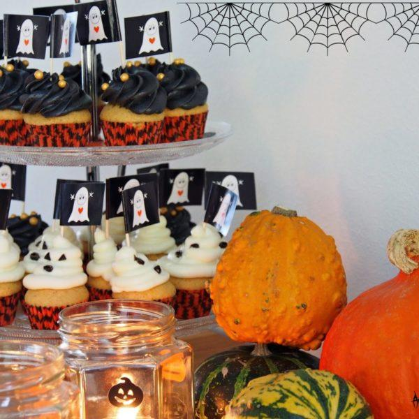 HALLOWEEN Orange Cupcakes -DIY lyhdyt