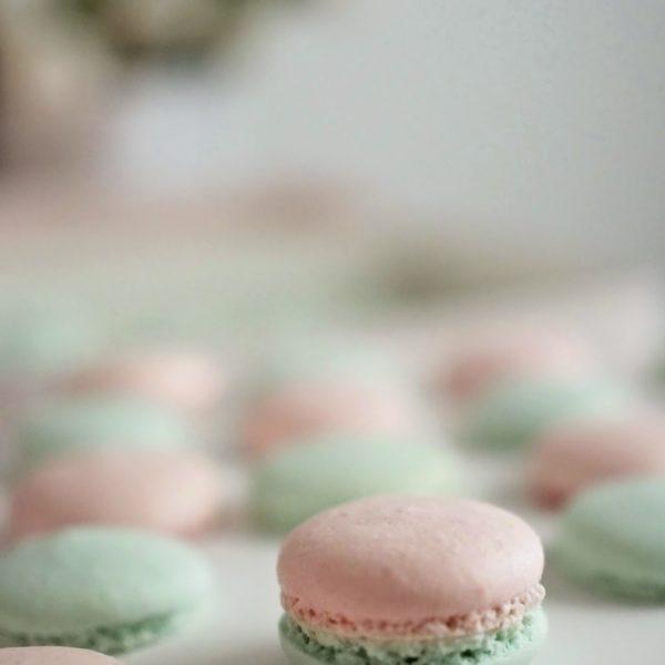 Macarons -leivokset kesän juhliin pastellin väreissä