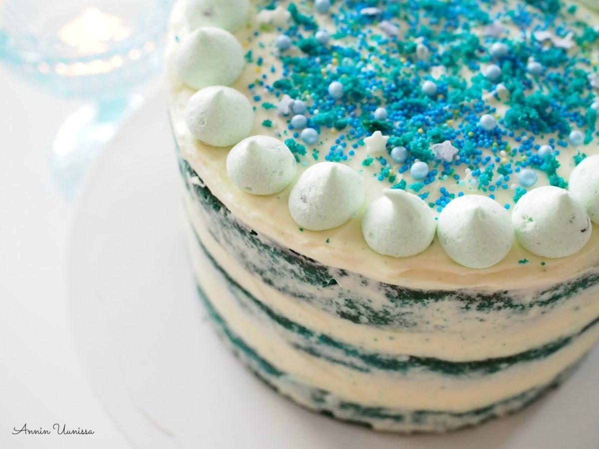 Blue Velvet Cake - Sininen Samettikakku