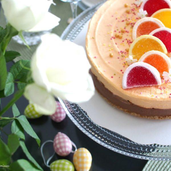 Appelsiini-suklaajuustokakku