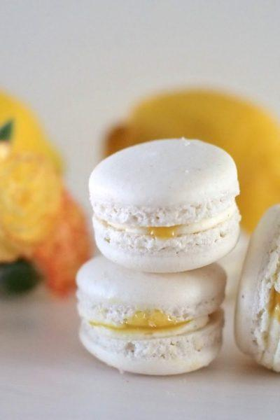 Sitruuna-Vanilja Macarons