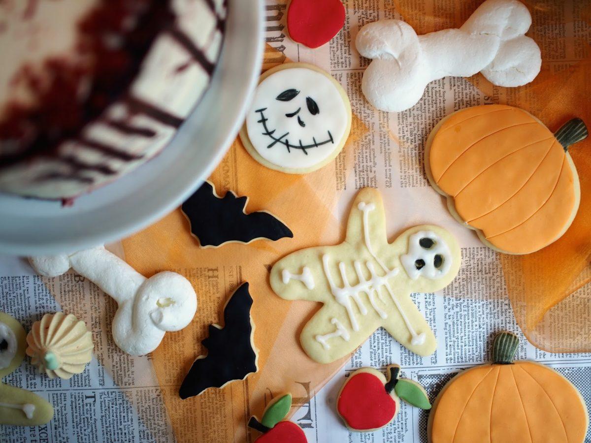 Toffeen makuiset Halloweenkeksit
