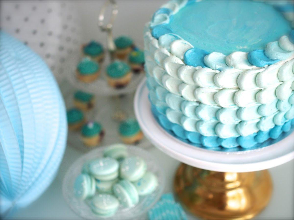 Sininen Ombre Kakku Isälle + video