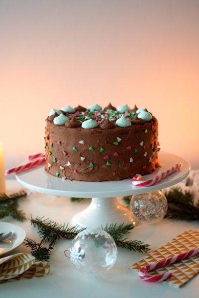 Piparminttu-Suklaakakku Pikkujouluihin
