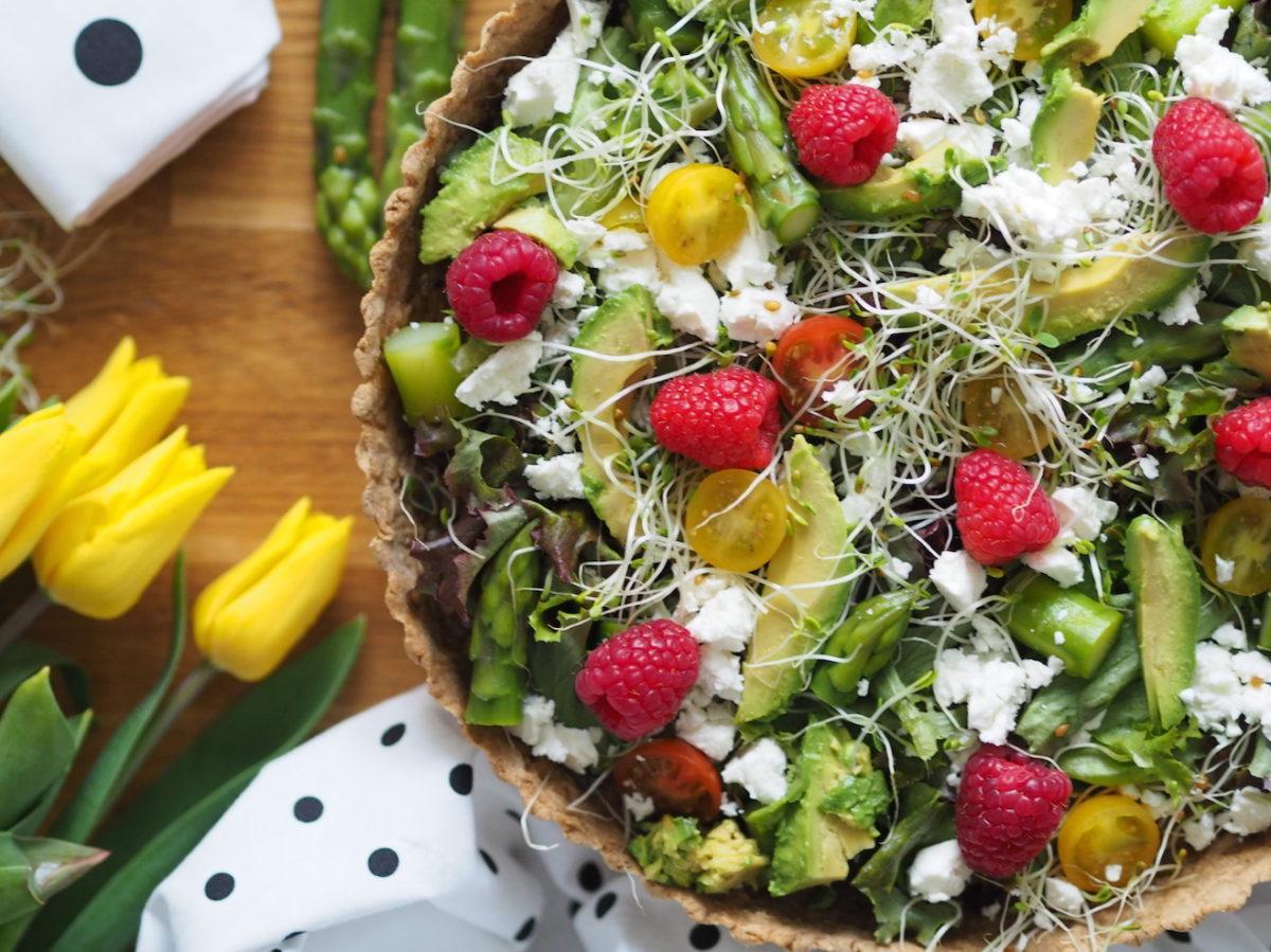 Ruokaisa Vegepiirakka - Salaattipiirakka