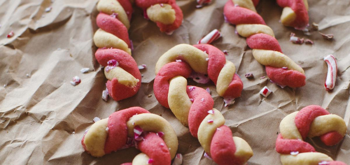 Candy Cane Cookies - Piparminttukeksit