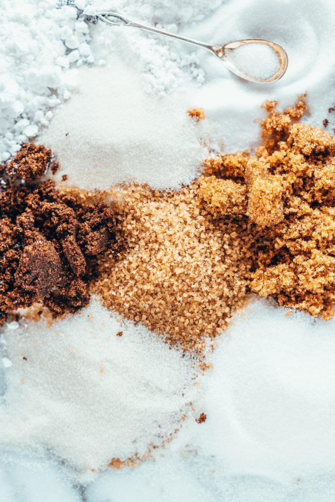 Erilaiset sokerit leivonnassa
