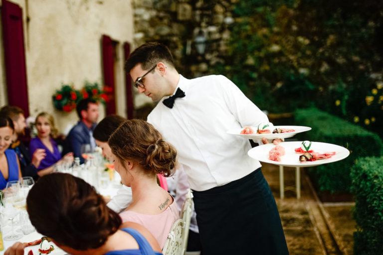 Italiassa- Viiden ruokalajin hääillallinen