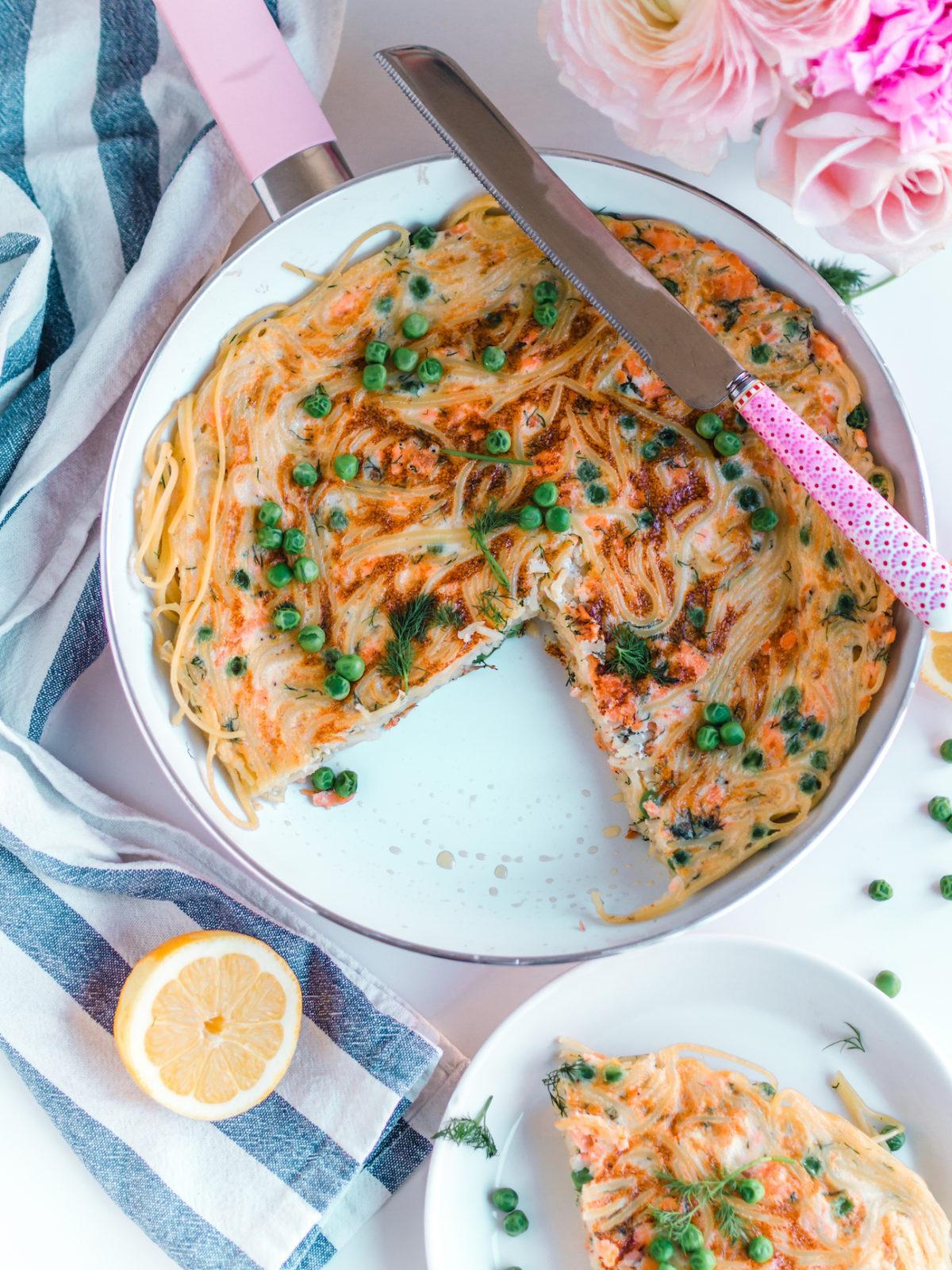 Arkiruokavinkki: Lohi-Spagettimunakas
