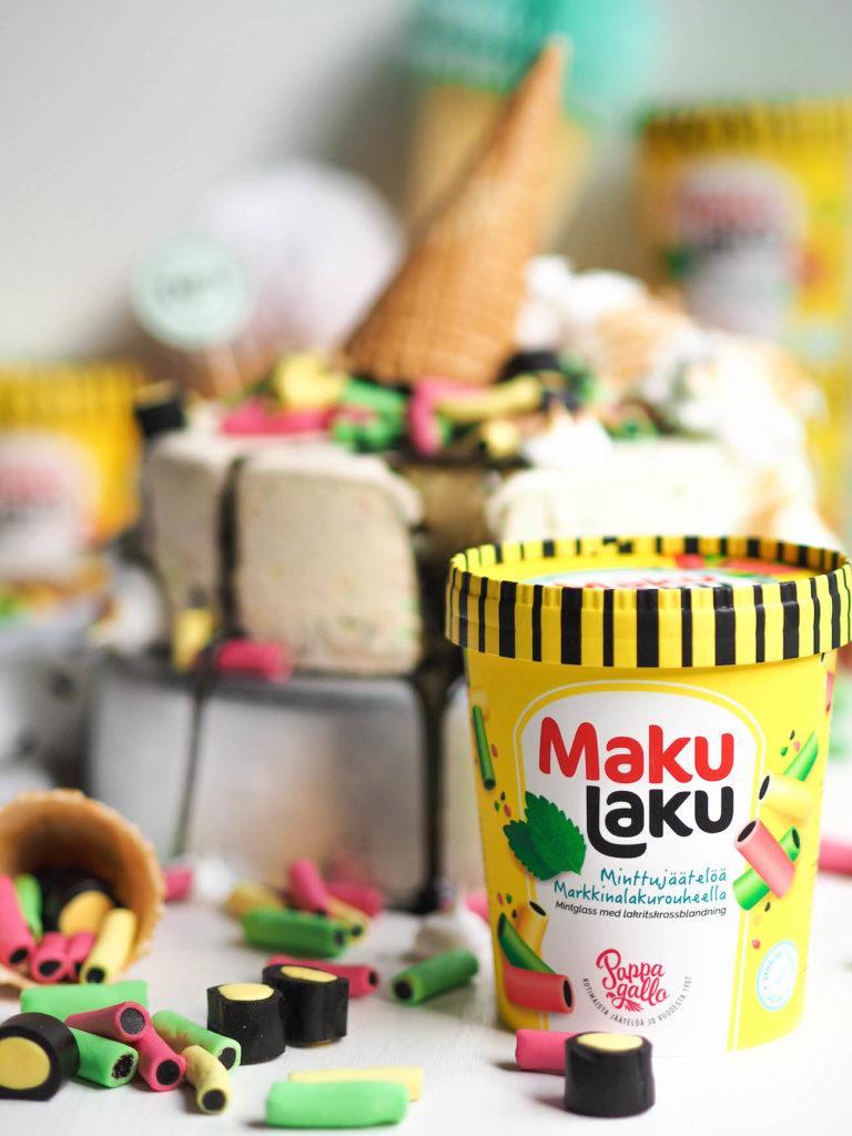 MakuLaku-Minttujäätelö Jäätelökakku