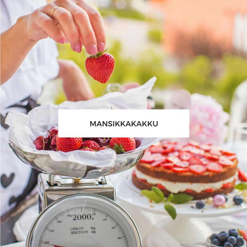 Mansikkakakku - Leivonta - Annin Uunissa