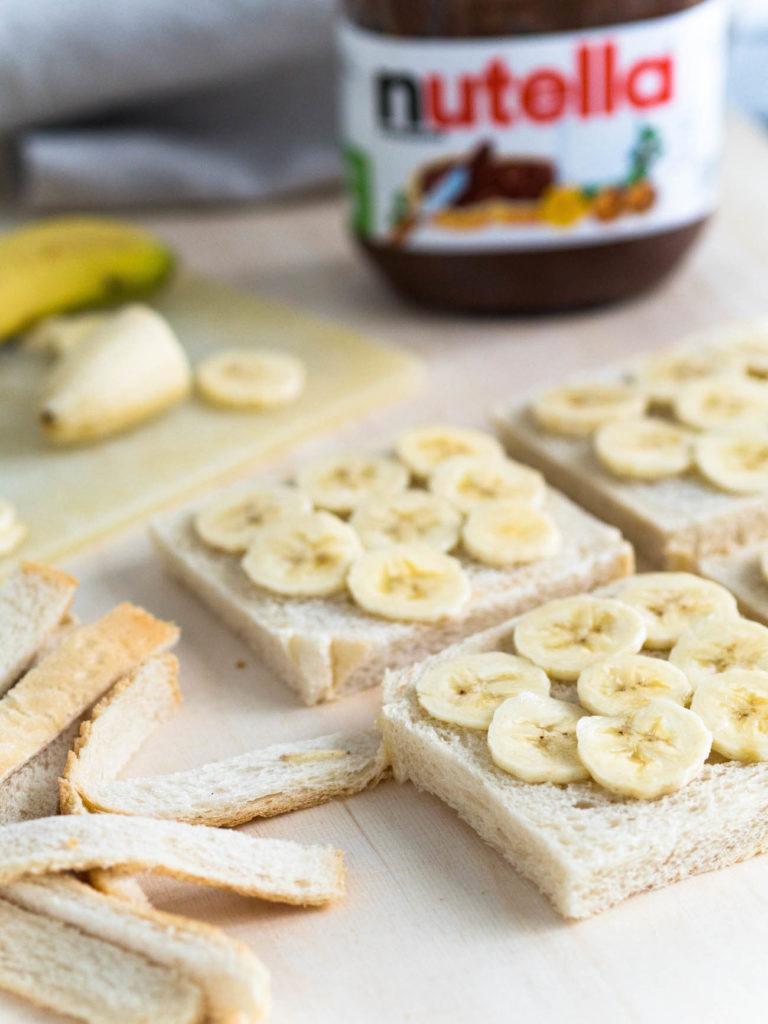 Paistetut Banaani-Nutella Kolmioleivät