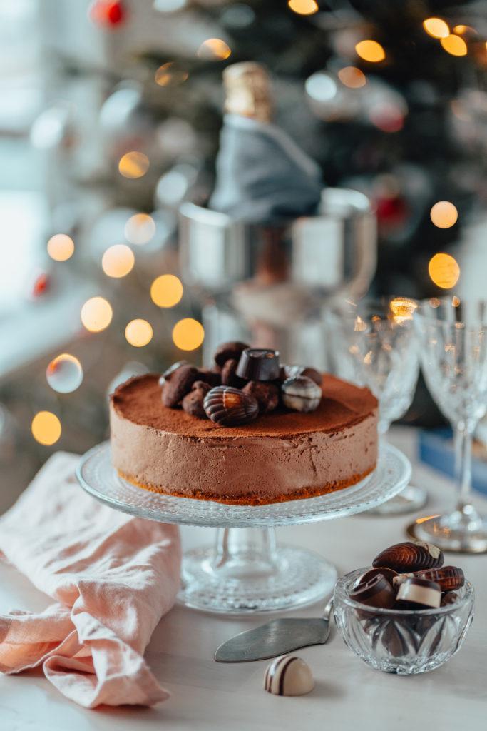 Suklaatryffeli-juustokakku (G)