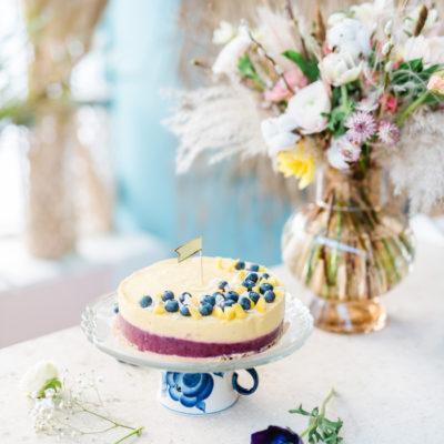 Mango-Mustikkakakku – Vauvan ensimmäinen kakku (6 kk)