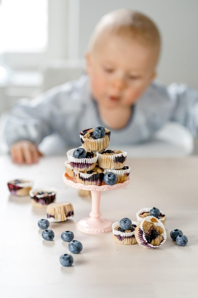Vauvan Mustikkamuffinssit (ei lisättyä sokeria)