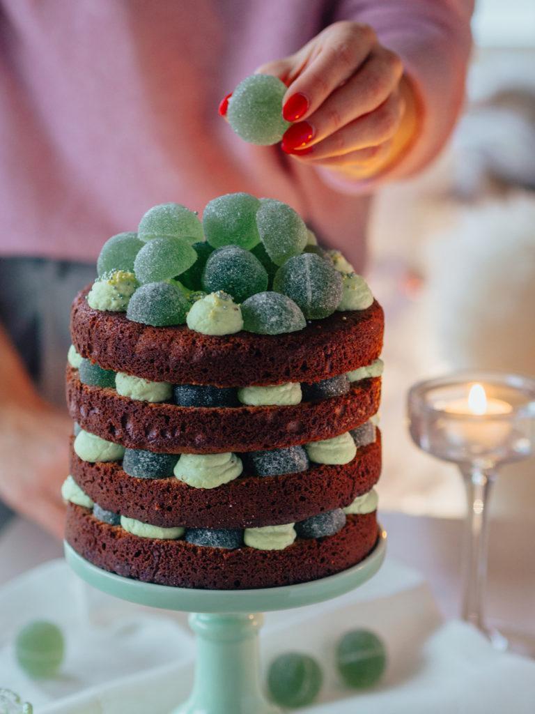 Suklainen Vihreä Kuula-kakku